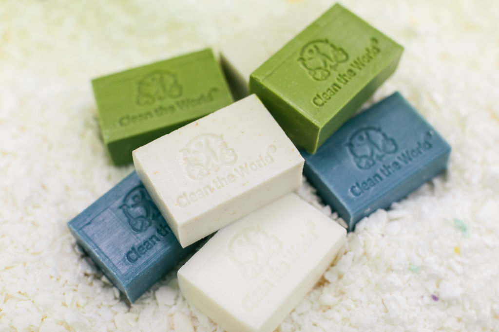 Repurposed and recycled soap bars - Clean the World Asia in Hong Kong