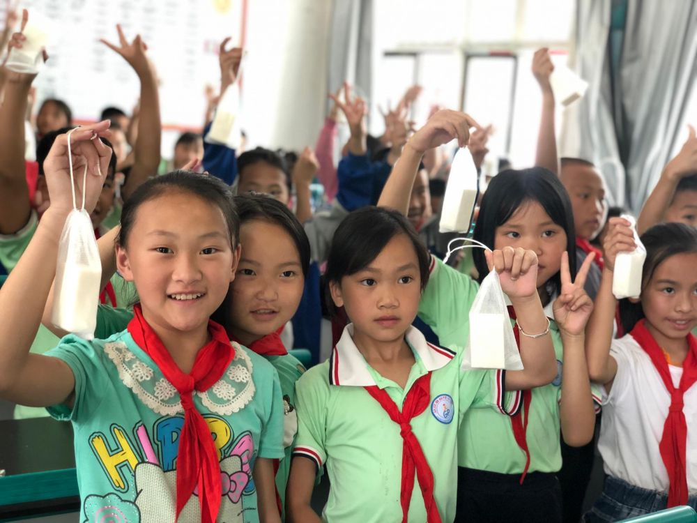 Guizhou children - Hygiene education and repurposed soap distributiong