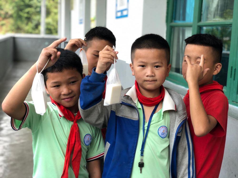 Clean the World Asia - distributing recycled soap for children in China