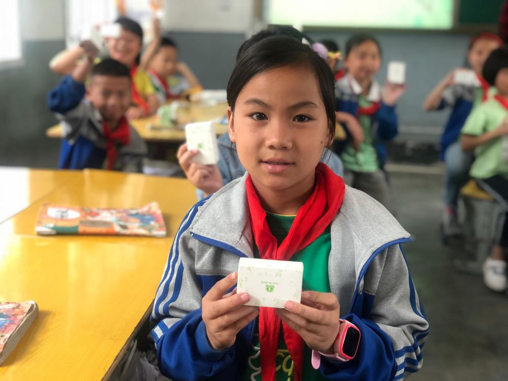 Children beneficiaries in China - Clean the World Asia